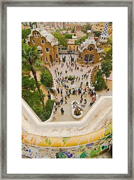 Parc Guell In Barcelona Framed Print