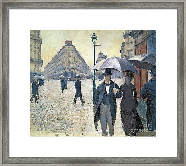 Paris A Rainy Day Framed Print