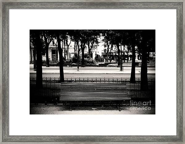 Paris Bench Framed Print