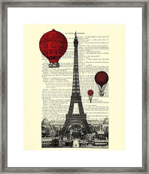Paris, City Of Love Framed Print