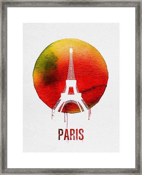 Paris Landmark Red Framed Print