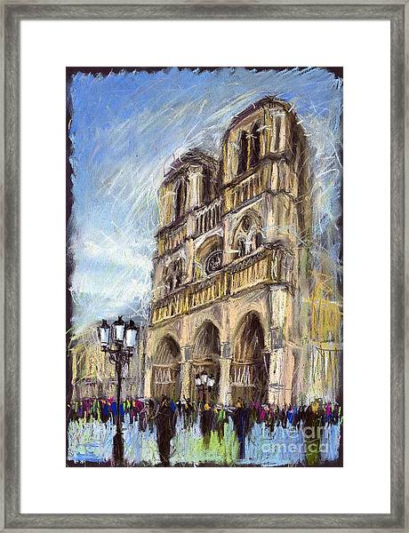 Paris Notre-dame De Paris Framed Print