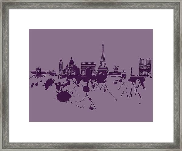 Paris Skyline.1 Framed Print