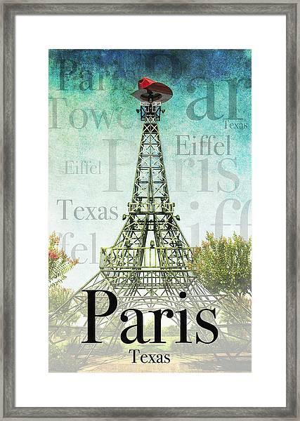 Paris Texas Style Framed Print