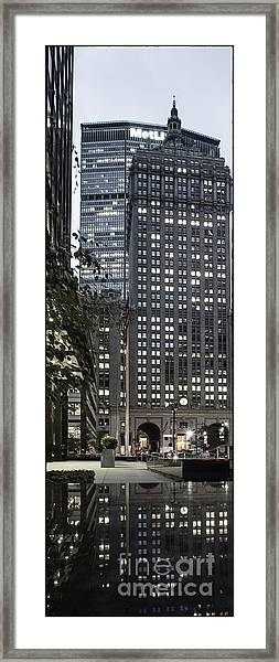 Framed Print featuring the photograph Park Avenue Met Life Nyc by Juergen Held