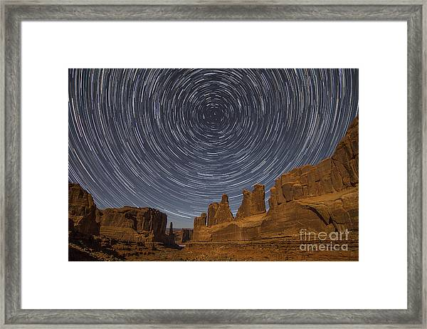 Park Avenue Star Trails Framed Print