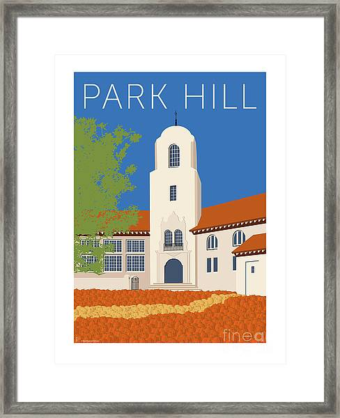 Park Hill Blue Framed Print