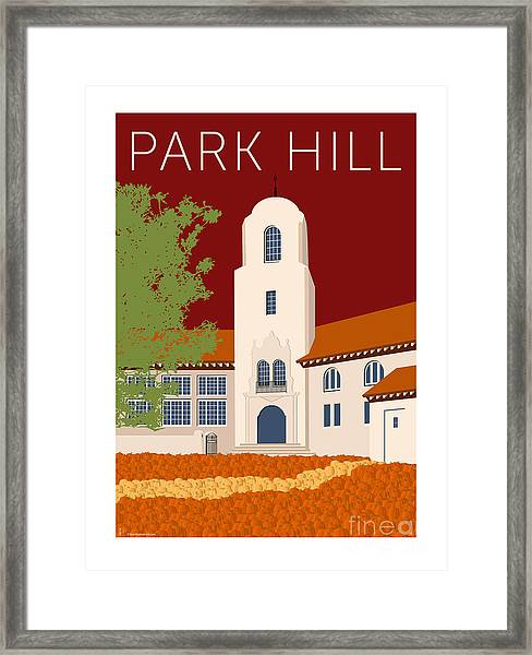 Park Hill Maroon Framed Print