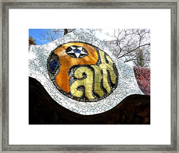 Park Letters In Collage Framed Print