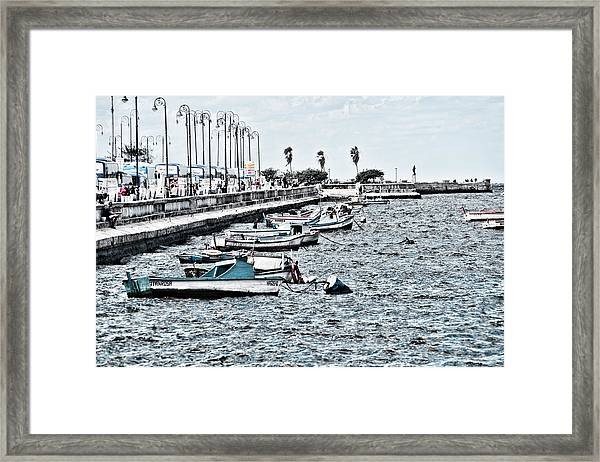 Parked And Waiting Framed Print