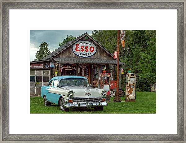 Parked At Ferland Motor Company Framed Print
