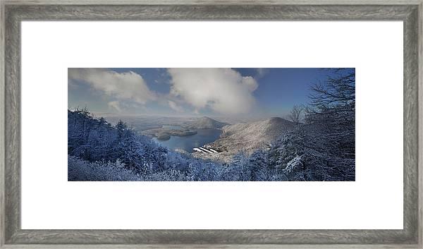 Parksville Lake Snowy Overlook Framed Print