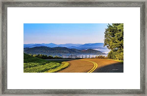 Parkway Morning Vista Framed Print