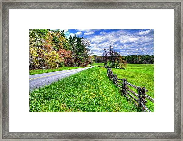 Parkway Spring Framed Print