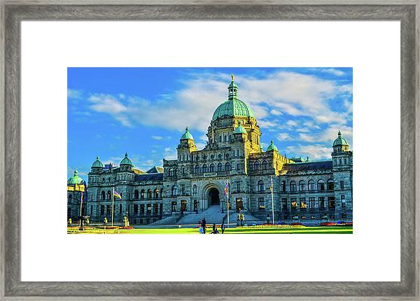Parliament Victoria Bc Framed Print