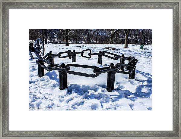 Part Of The Great Chain At West Point Military Academy Framed Print