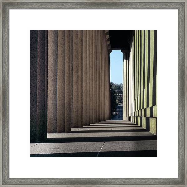 Parthenon Shadow Tunnel Framed Print