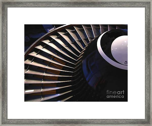 Partial View Of Jet Engine Framed Print