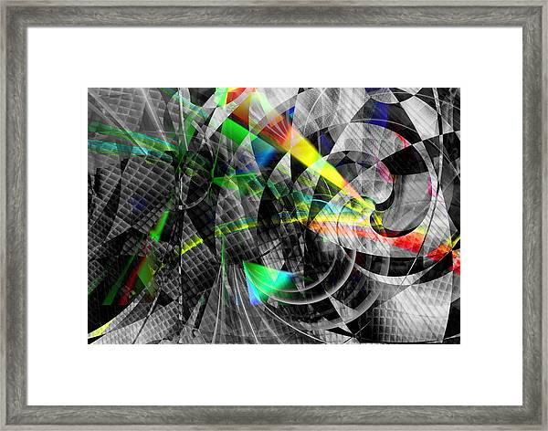Particles Of Light Dancing Framed Print