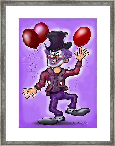 Party Clown Framed Print