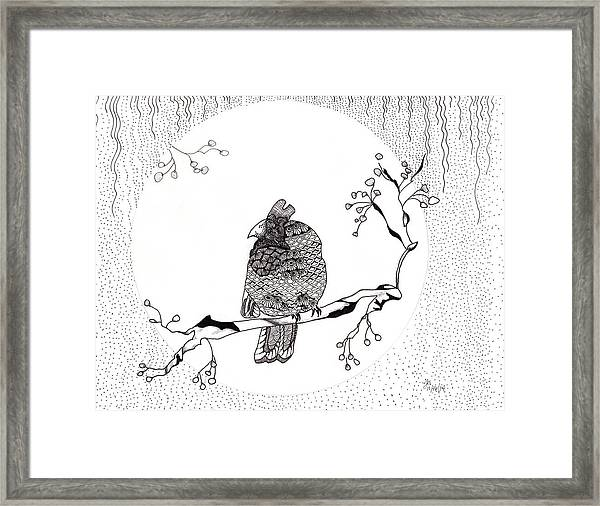 Party Time In Birdville Framed Print