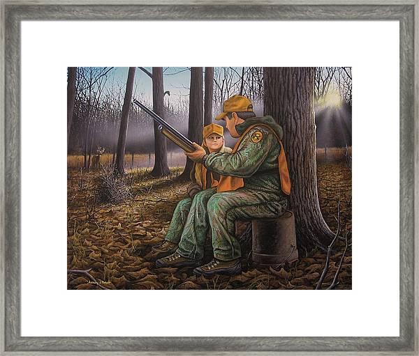 Pass It On - Hunting Framed Print