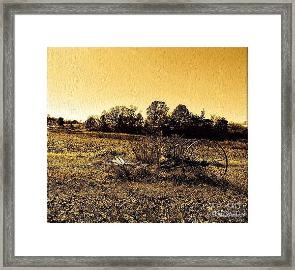 Past It's Time Framed Print