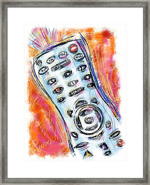 Pass The Remote Framed Print