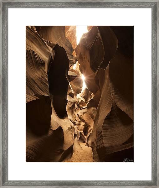 Passage At Antelope Canyon Framed Print