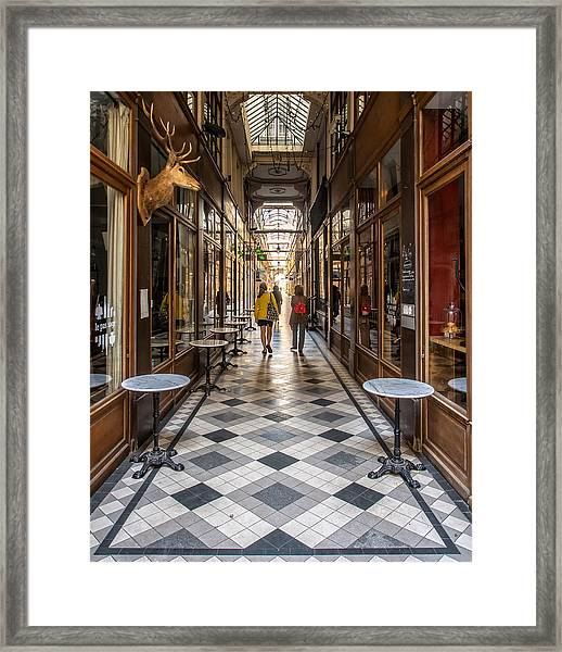 Passage Du Grand Cerf Framed Print