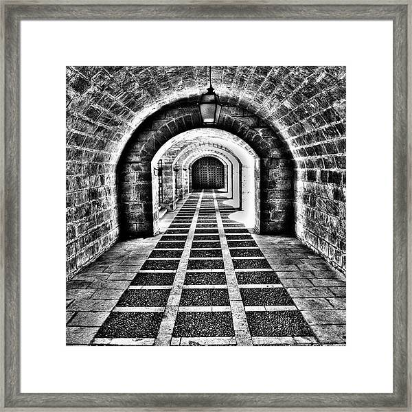 Passage, La Seu, Palma De Framed Print