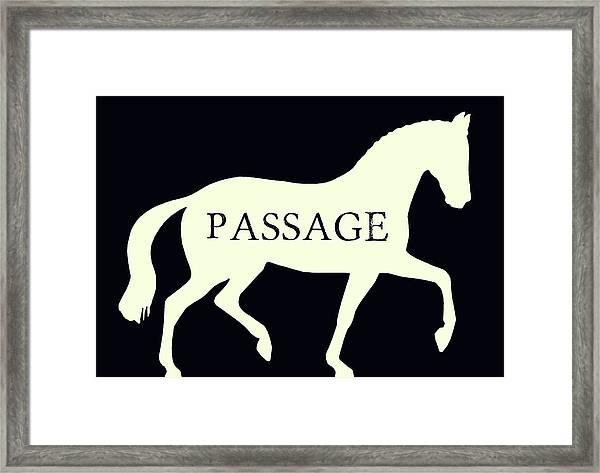 Passage Negative Framed Print