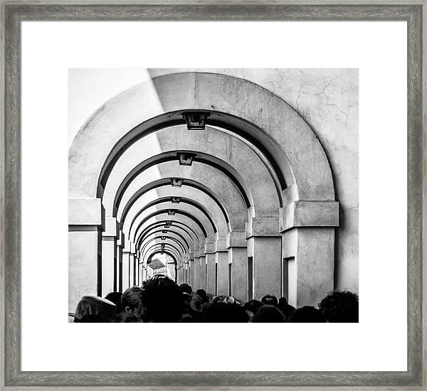 Passageway At The Arno Framed Print