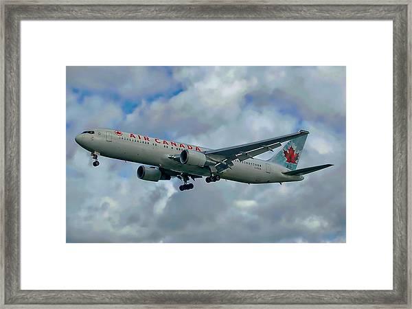 Passenger Jet Plane Framed Print