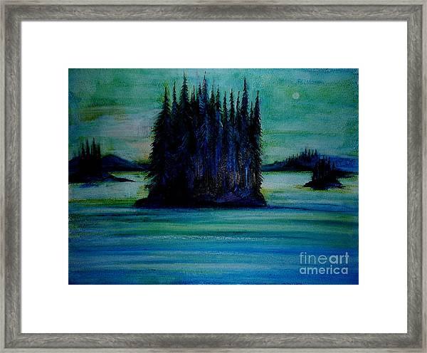 Passing Land Of British Columbia  Framed Print by Anna  Duyunova
