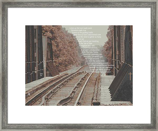 Passing Through Framed Print by David  Norman