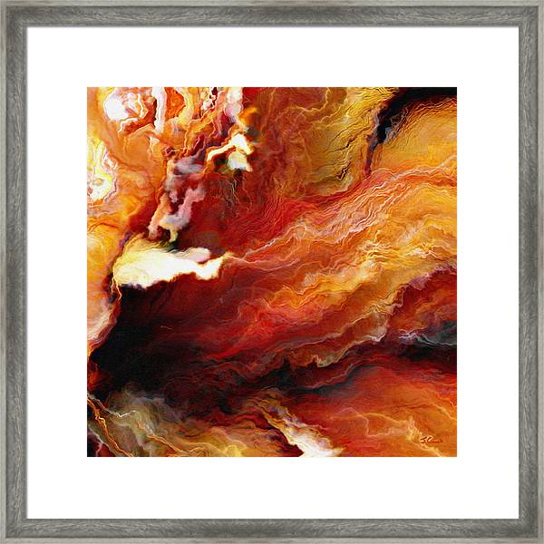 Passion - Abstract Art - Triptych 3 Of 3 Framed Print