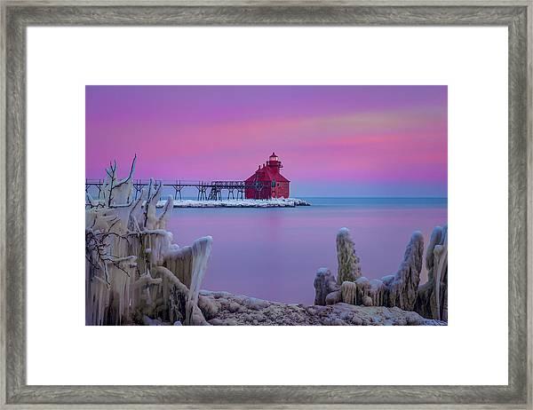 Pastel Lighthouse Framed Print