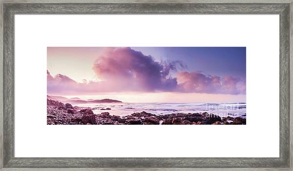 Pastel Purple Seashore Framed Print