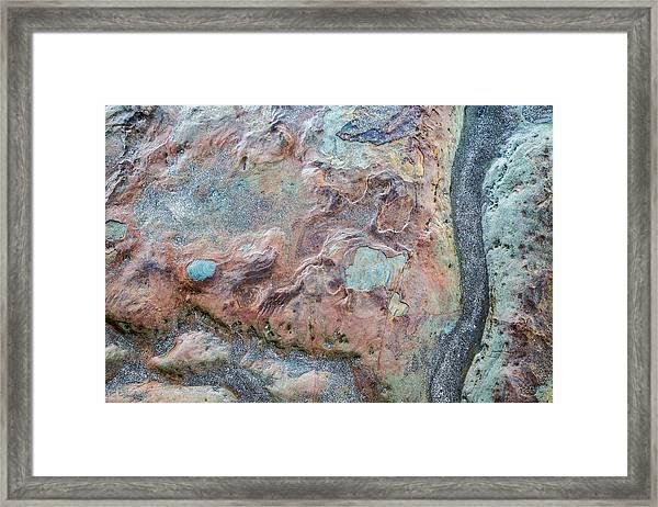 Pastel Rock Patterns Framed Print