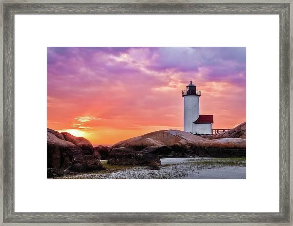Pastel Sunset, Annisquam Lighthouse Framed Print