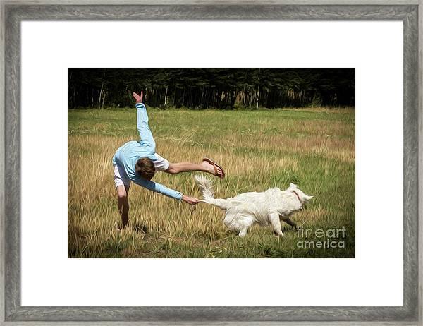 Pasture Ballet Human Interest Art By Kaylyn Franks   Framed Print