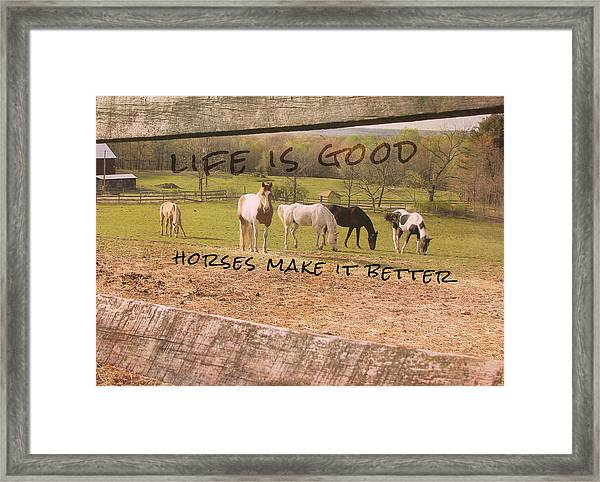 Pasture Friends Quote Framed Print