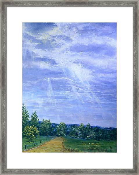 Pasture Lane Framed Print