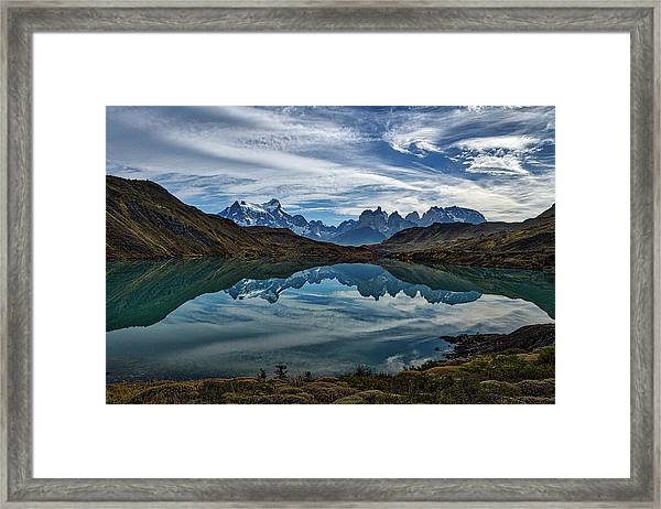Patagonia Lake Reflection - Chile Framed Print