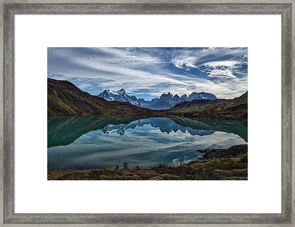 Patagonia Lake Reflection - Chile Framed Print