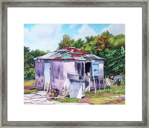 Cat Island Patch Framed Print