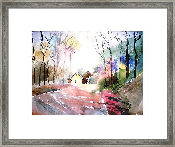 Path In Colors Framed Print