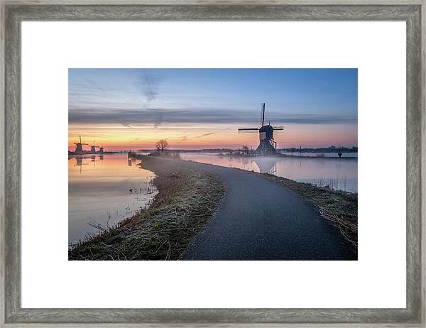 Path Through Windmill City Framed Print