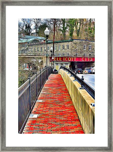 Path To Ellicott City Framed Print
